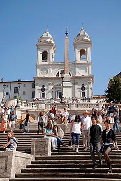Spanish Steps and Chiesa della Trinita dei Monti Church, Rome, Italy