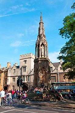 Oxford, England, UK Martyrs Memorial Gilbert Scott - 1841 in Magdalen Street