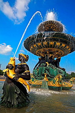 Fountain at Palais Royal, Paris, France
