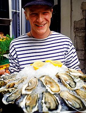 Waiter, Saint-Jean-de-Luz, French Basque Country, Pyrenees Atlantiques, France