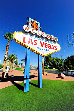 Welcome Sign Las Vegas Nevada Sin City Gambling Capital NV