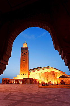 Morocco, Casablanca, Mosque of Hassan II