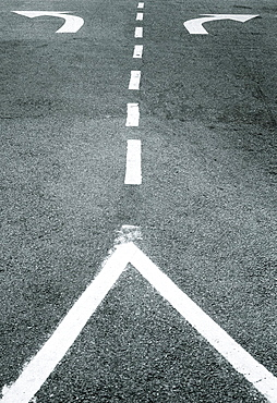 Road markings in Melaka, Malaysia