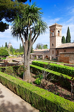 National Parador San Francisco located in the Alhambra, Granada, Andalucia, Spain