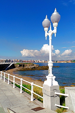Gijon Spain  Rosario Acuna promenade in the city of Gijon