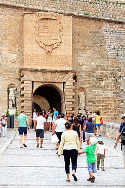 Spain, Balearic Islands, Ibiza, Ibiza old town UNESCO site, Dalt Vila
