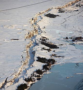 Mid-Atlantic Ridge Fault Line, Winter, Thingvellir National Park, Iceland