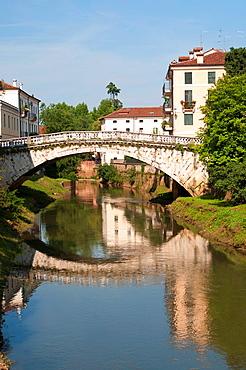 Bridge over the Retrone in Vicenza Veneto, northern Italy