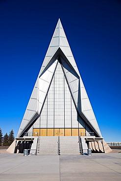 USA, Colorado, Colorado Springs, United States Air Force Academy, Cadet´s Chapel, exterior