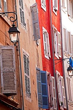 facades in Marseille, Panier quarter, the oldest spot in town, France, Bouches-du-Rhone, Provence- Alpes-Cote d Azur, Europe
