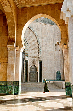 beautiful design and detail at the amazing Hassan II Mosque in Casablanca, Morocco