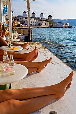 Quarter of Alefkandra, Little Venice, Mykonos, Cyclades Islands, Greece.