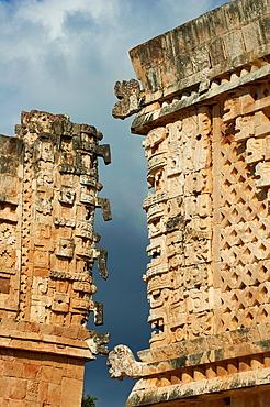 Mexico, Yucatan state, Uxmal, archeological Mayan site, world heritage of the UNESCO, Cuadrangulo de las Monjas, Nuns Quadrangle