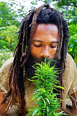 Rastafarian village, Montego Bay, Jamaica, West Indies, Caribbean, Central America.