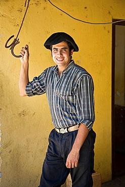 Portrait of a gaucho at Estancia La Paz, Cordoba Province, Argentina