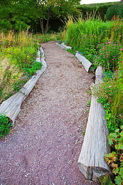 New Perennial Garden in Slottstradgården the castle gardens in Slottsparken park Malmo city Skåne county Sweden Europe
