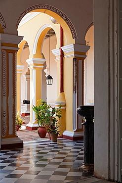 Cuba, Sancti Spiritus Province, Trinidad, Museo Historico Municipal Museum, arches