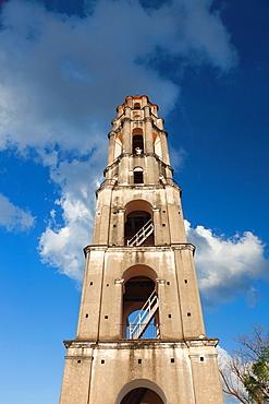 Cuba, Sancti Spiritus Province, Trinidad, Valle de los Ingenios, old sugar plantation area, Manaca Iznaga, 18th century sugar plantation slave watching tower