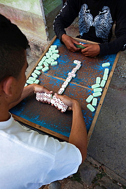 Cuba, Sancti Spiritus Province, Trinidad, game of dominoes