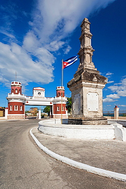 Cuba, Matanzas Province, Matanzas, entrance to the Castillo de San Severino fortress