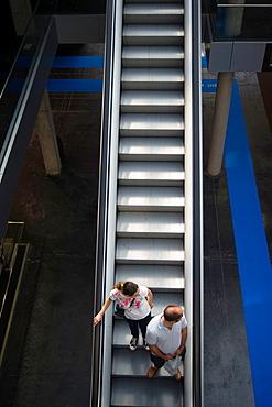 Escalators in a convention center, Valencia  Spain