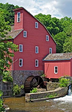 Faded Red Water Mill