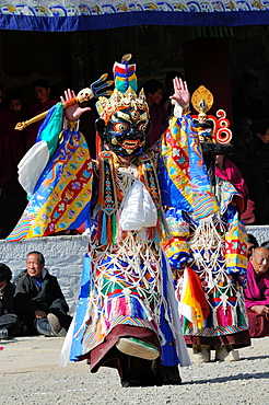 China, Gansu, Amdo, Xiahe, Monastery of Labrang Labuleng Si, Losar New Year festival, Cham Dance