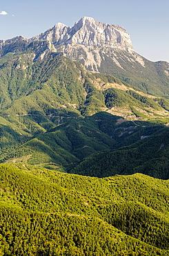 Pena Montanesa panoramic views, Huesca pyrenees, Spain