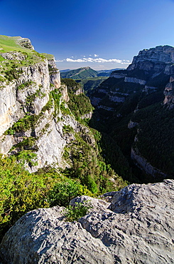 Anisclo canyon at Ordesa & Monte Perdido National Park, Huesca, Aragon, Spain Pyrenees