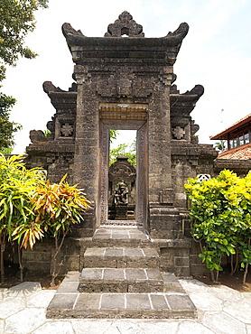 A ornate temple gate in Bali