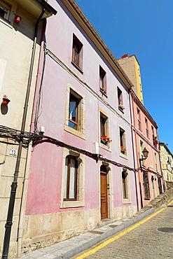 Colourful houses in Gijon, Asturias, Spain