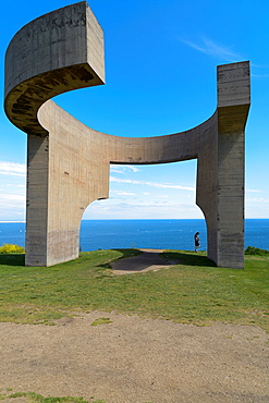 Elogio del Horizonte Sculpture by Eduardo Chillida, Gijon, Asturias, Spain