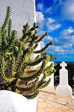 Puig de Missa church in Santa Eulalia del Rio  Ibiza, Balearic Islands, Spain