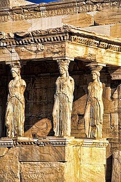 Athens Greece Close Up of Three Women at Parthenon