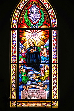 Beautiful Stained Glass Cathedral of Immaculate Conception Cien Fuergos Cuba