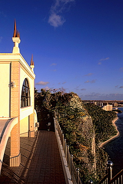 Wedding Church over a cliff near the water of Two Lovers Point Guam USA