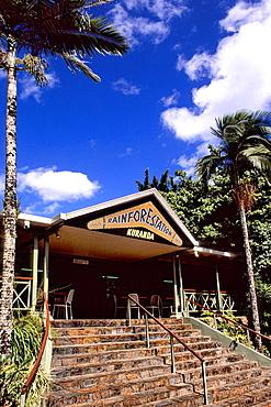 Entrance to Kuranda Rainforest Tourism in Cairns Queensland Australia