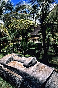 Polynesian Cultural Center Easter Island Village in Hawaii USA