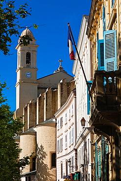 France, Corsica, Haute-Corse Department, Le Cap Corse, Bastia, Place du Marche, Eglise St-Jean Baptiste church