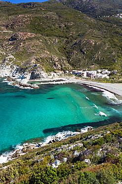 France, Corsica, Haute-Corse Department, Le Cap Corse, Marine de Giottani, elevated view