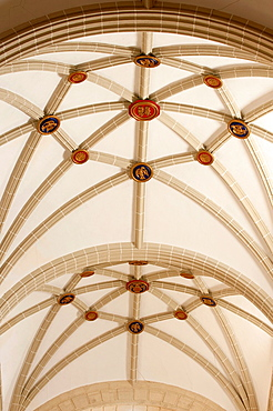 Interior dome, church of Saint Justa and Saint Rufina tower detail, Orihuela, Alicante province, Spain