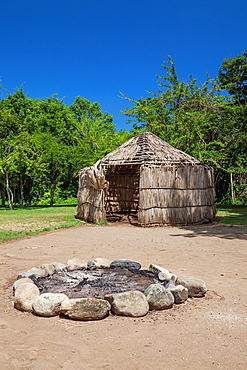 Indigenous tribe huts, at Centro Ceremonial Indigena de Tibes, Ponce, Puerto Rico
