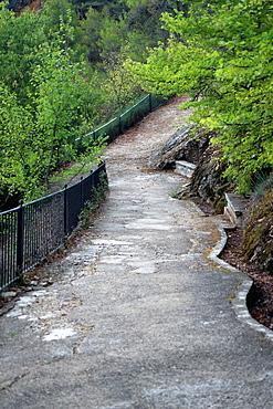 Way down the Serra Mariola, Agres, Alicante, Spain, Europe