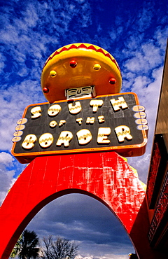 World Famous South of the Border resort stop on I-95 on border of South and North Carolina USA