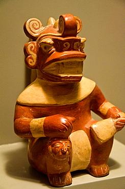 Ceramic vessel, Slaughterer God Moche culture 100 AC-800 AC Peru