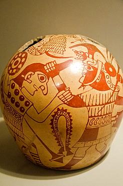 Ceramic vessel, depicting prisoners of war Moche culture 100 AC-800 AC Peru