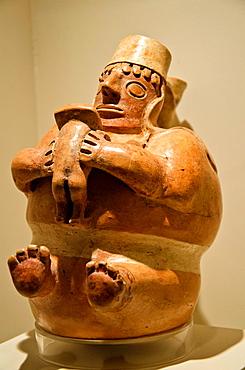 Ceramic vessel, erotic art Viru culture 100BC-200AC Peru