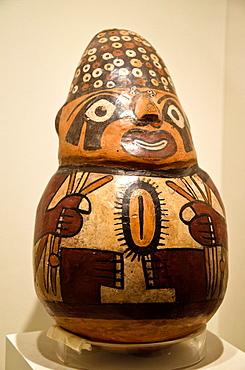 Ceramic vessel, erotic art Nazca culture 100AC-800AC Peru