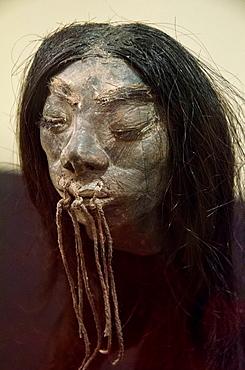 Tsantsa or shrunken head Shuar-Jivaroan culture Amazonian Peru