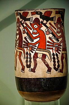 Ceramic vessel, hunting scene Nazca culture 100 BC-800 BC Peru